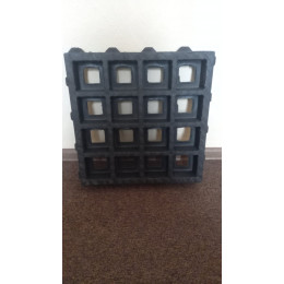 Решетка газонная п/п ТТЕ 400х400х65 мм, черная