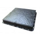 Люк пластмасовий квадратний 680х680 (чорний)