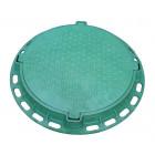Люк садовый пластмассовый легкий № 2 (зелёный)