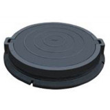 Люк тяжелый канализационный полимерпесчаный с замком (С250) (РА)