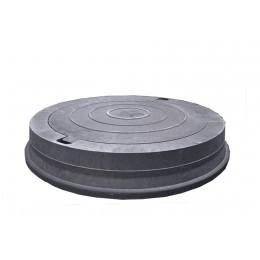 Люк легкий канализационный полимерпесчаный черный