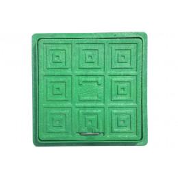 Люк-мини пластмассовый квадратный 300х300 (зелёный)