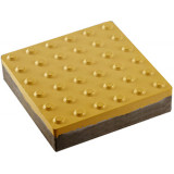 "Тактильна плитка бетонна ""Конус"" 400х400х50 жовта ДСТУ ISO 23599:2017"