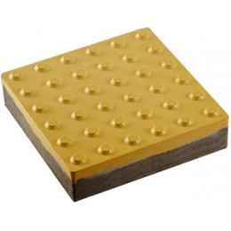 "Тактильная плитка бетонная ""Конус"" 400х400х60 мм желтая ГОСТ ISO 23599:2017"