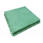 Люк пластмасовий квадратний 680х680 (зелений, червоний, теракортовий)