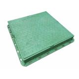 Люк пластиковый квадратный 680х680 (зелёный, красный, теракортовый)