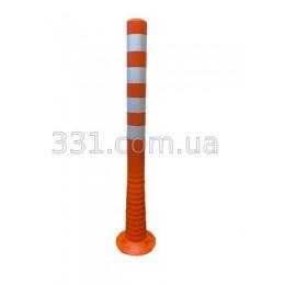 Столбик сигнальний пластиковый Н-1000мм