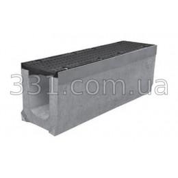 Комплект: лоток водоотводный Super ЛВ-15.25.31 бетонный  с чугунной решеткой, класс Е