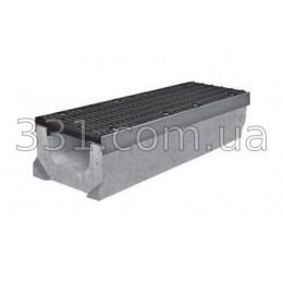 Комплект: лоток водовідвідний Super ЛВ-20.30.23 бетонний з чавунною решіткою, клас Е