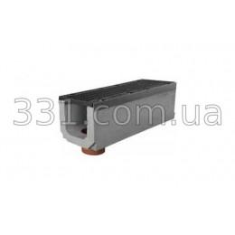 Комплект: лоток водоотводный Super ЛВ-20.30.36 бетонный с вертикальным водосливом с чугунной решеткой, класс Е