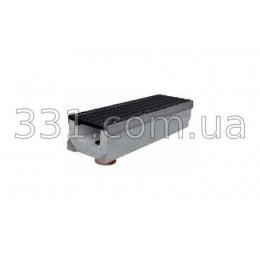 Комплект: лоток водоотводный Super ЛВ-20.30.23 бетонный с вертикальным водосливом с чугунной решеткой, класс Е
