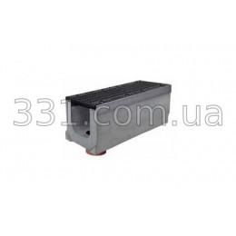 Комплект: лоток водоотводный Super ЛВ-20.30.30 бетонный с вертикальным водосливом с чугунной решеткой, класс Е