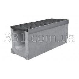Комплект: лоток водоотводный Super ЛВ-20.30.36 бетонный с чугунной решеткой, класс Е