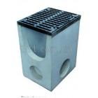 Комплект: пескоуловитель Super  ПУ-30.40.60 бетонный с чугунной решеткой, кл. Е верхняя часть
