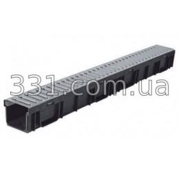 Комплект: лоток водоотводный Лайт ЛВ-9,5.11,5.9,5-пластиковый с решёткой стальной