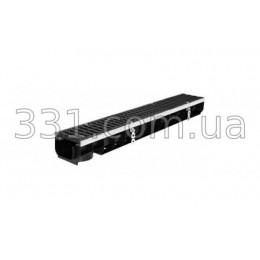 Комплект: лоток водоотводной пластиковый Super ЛВ-10.14,5.08 с чугунной решеткой, кл.Е600
