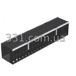 Лоток водоотводный пластиковый Super ЛВ-20.24,6.25 с чугунной решеткой, кл.Е600
