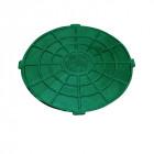 Крышка люка садового пластмасового А15 (зелёная)