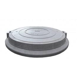 Люк Импекс-груп средний канализационный полимерпесчаный В125 14.30 П