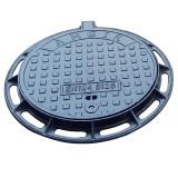 Люк чавунний каналізаційний середнього  типу  із замком В125 +  шарнір ВЧ