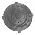 Крышка чугуного люка канализационного d-580, h-35 (МЛ)
