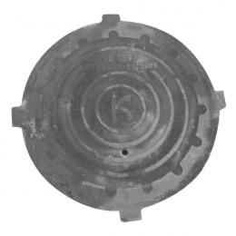 Крышка чугуного люка канализационного d-600, h-35 (МЛ)