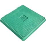 Люк Импекс-груп пластиковый А 15 квадратный с замком зелёный 02995 П