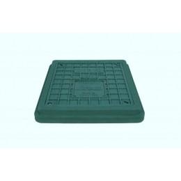 Люк полимерпесчаный легкий 400х450 с замком ( А15 ) зелёный