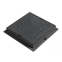 Люк ревизионно-смотровой квадратный черный
