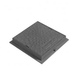 Люк ревизионно-смотровой квадратный серый