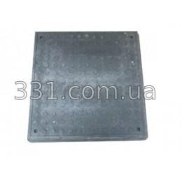 Люк полімерпіщаний квадратний 640х640 із замком  А15 (чорний)