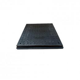 Люк полимерпещанный квадратный 640х640 А15  (чёрный)