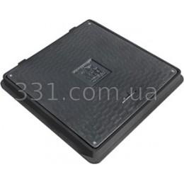 Люк пластиковий квадратний 650х650 із замком (чорний)