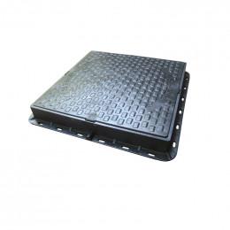 Люк пластиковый квадратный 680х680 (черный)