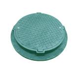 Пластиковый тяжелый люк с замком С250 зеленый