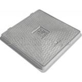Люк пластиковый квадратный 650х650 с замком (серый)