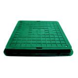 Люк Импекс-групп полимерпесчанный квадратный 710х710 с замком А15 (зелёный)