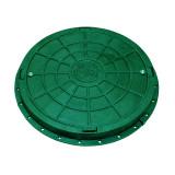 Люк садовый пластмассовый легкий (зелёный) с замком