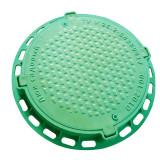 Люк садовый пластмассовый легкий № 2 (зелёный) с замком