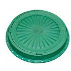 Люк пластмассовый легкий №3 (зелёный)