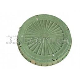Люк пластмассовый легкий №4 (зелёный) с замком
