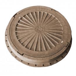 Люк пластмассовый легкий №4 (коричневый) с замком