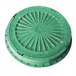Люк Импекс-груп канализационный пластмассовый легкий зеленый с замком 13.07.1 П