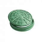 Люк-мини пластмассовый канализационный (зелёный)