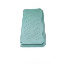 Люк пластмасовий електротехній А15 із замком (зелений)
