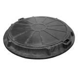 Люк садовый полимерпесчаный (А15) черный