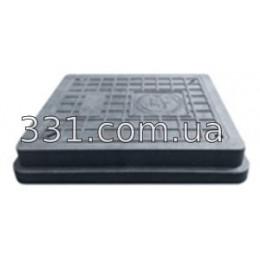 Люк полимерпесчанный квадратный 710х710 с замком А15 (чёрный)