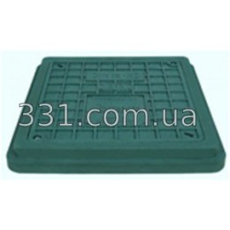 Люк полимерпесчанный квадратный 710х710 с замком А15 (зелёный)