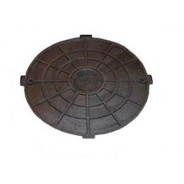 Крышка люка садового пластмасового А15 (чёрная)