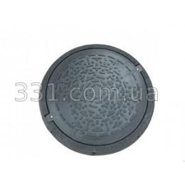 Люк садовий полімерпіщаний (А15) чорний із замком